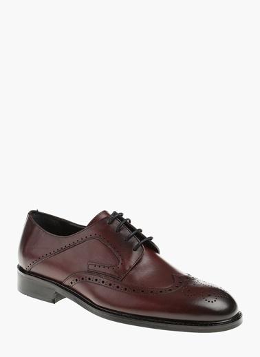 Divarese Deri Oxford Ayakkabı Bordo
